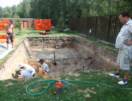 1 — Подготовка котлована для бассейна